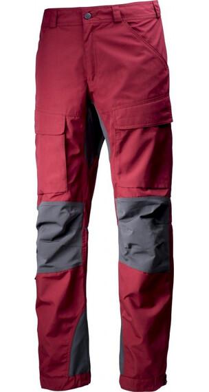 Lundhags Authentic lange broek grijs/rood
